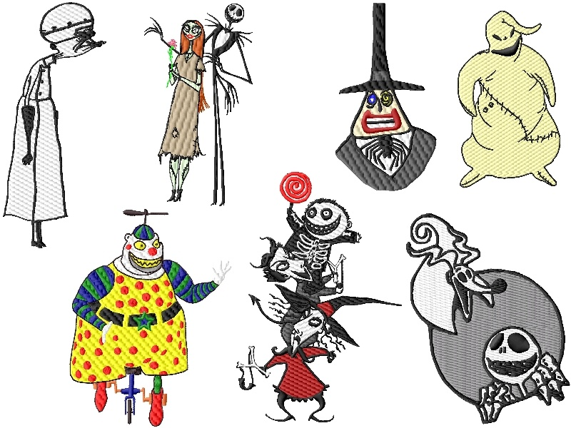 Nightmare Before Christmas Embroidery Designs Set 2