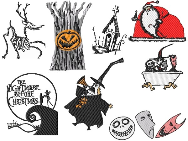 Nightmare Before Christmas Embroidery Designs Set 3