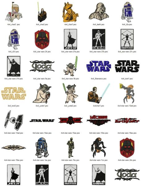 Star Wars Embroidery Designs Set (2 sizes!)