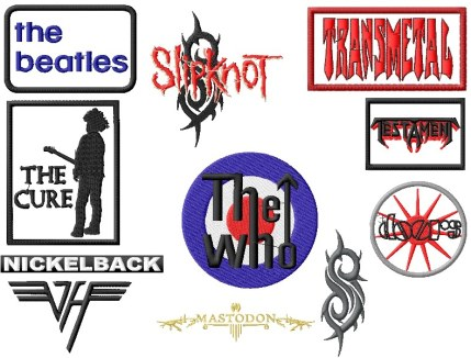 rockband logo embroidery designs p6