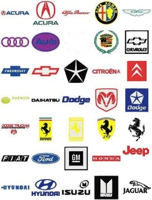 Automobile Car Logos Embroidery Designs