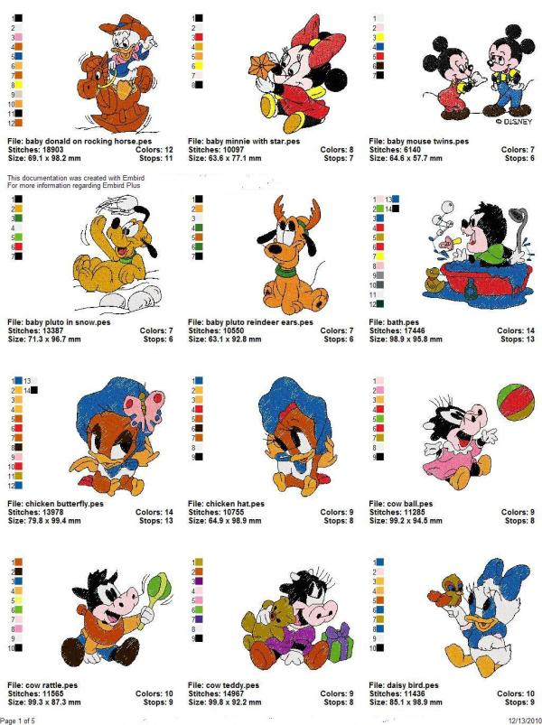 Disney Babies Embroidery Designs