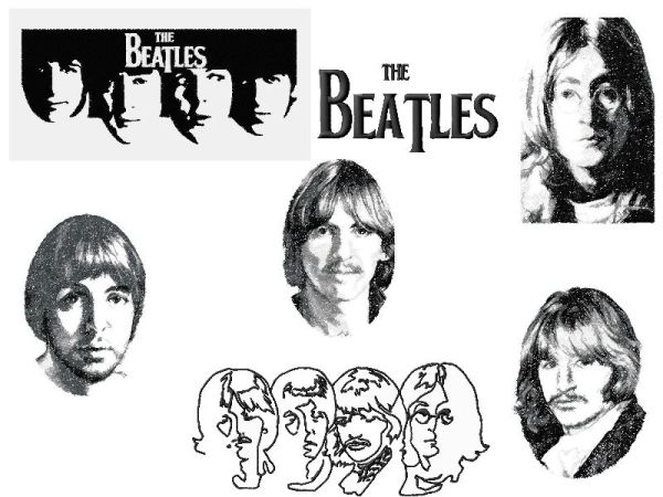 The Beatles Large Sized Embroidery Designs