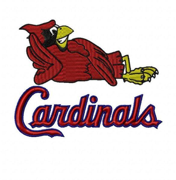 STL St. Louis Cardinals Fredbird Embroidery Design #1