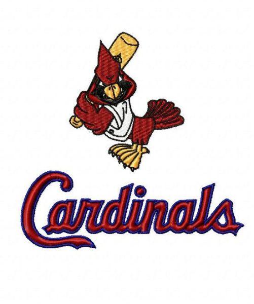 STL St. Louis Cardinals Fredbird Embroidery Design