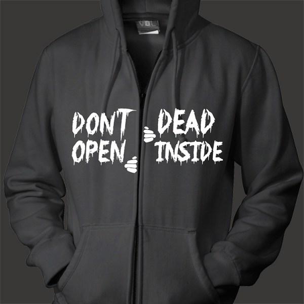"""Walking Dead """"Dead Inside"""" LG Split Embroidery Design"""