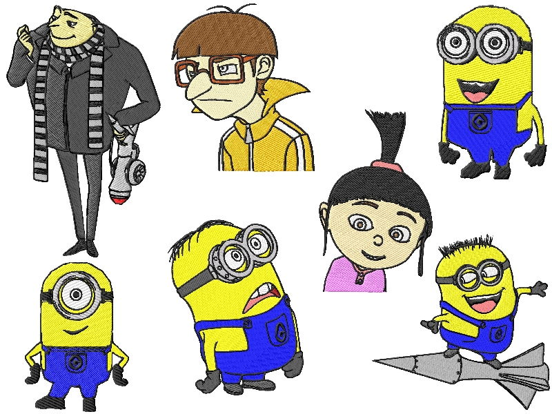 Despicable Me Embroidery Designs