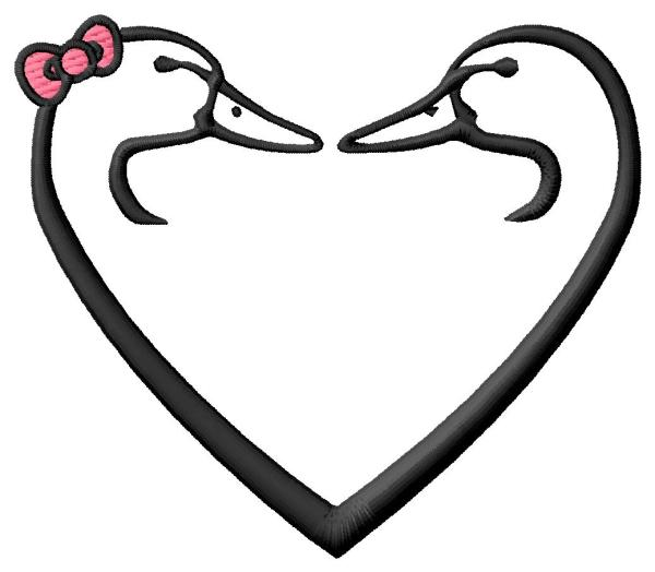 Ducks Unlimited Heart Duck Embroidery Designs