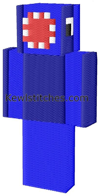 Minecraft Iballisticsquid Embroidery Design