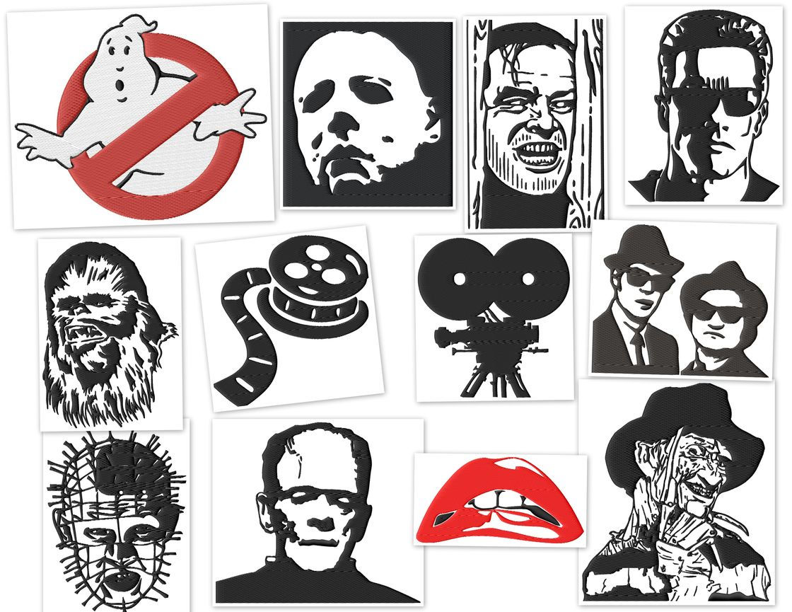Famous People Iconic Movies Embroidery Designs