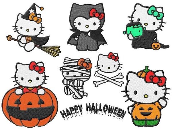 Hello Kitty Halloween Embroidery Designs