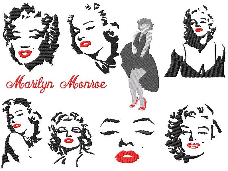 Marilyn Monroe Embroidery Designs Set 2