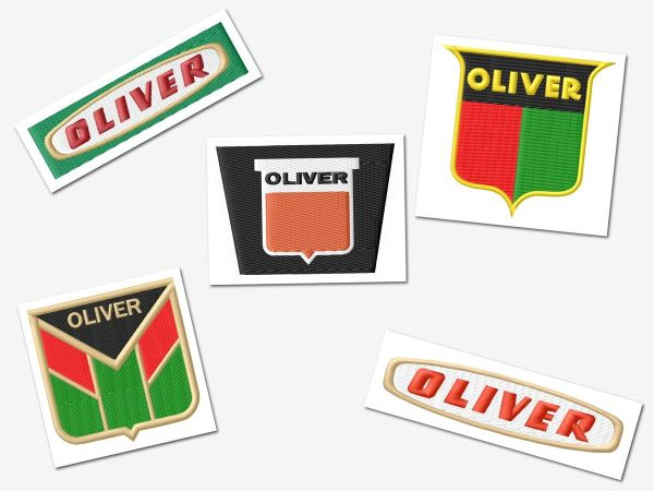 Oliver Tractor Embroidery Designs Set