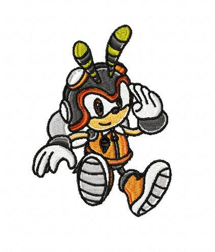 Sonic Charmy Bee Embroidery Design