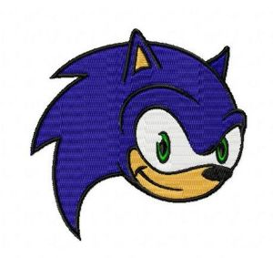 FREE Sonic The Hedgehog Face Embroidery Design