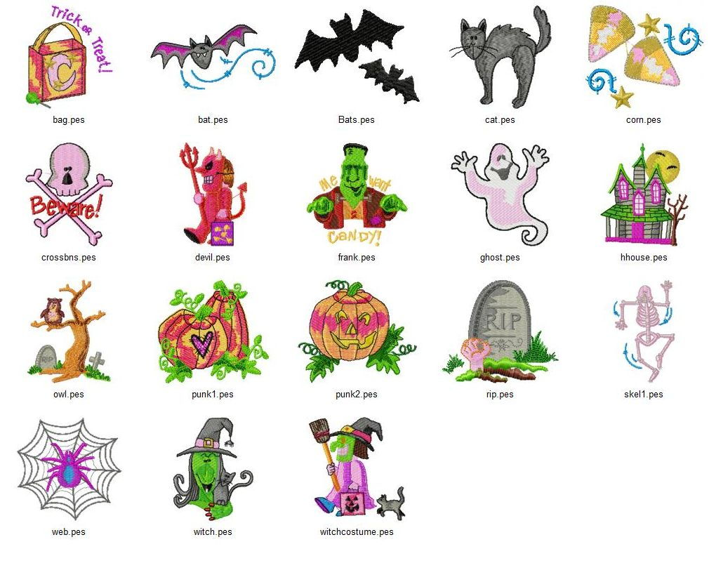 Trick Or Treat Embroidery designs