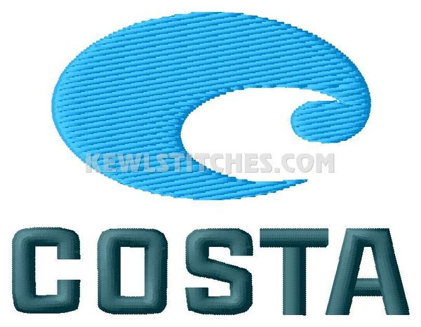Costa Logo Embroidery Designs #2
