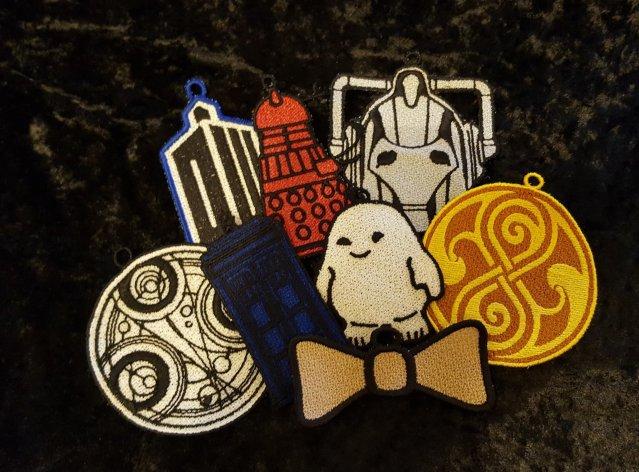 Dr Who Fsl Ornament Suncatcher Embroidery Designs Set