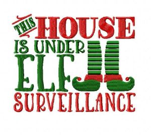 Elf Surveillance Embroidery Design