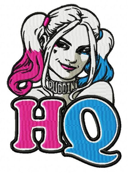 Suicide Squad Harley Quinn Embroidery Designs