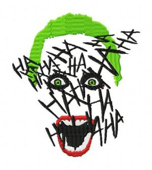 Suicide Squad Joker Face Hahaha Embroidery Designs