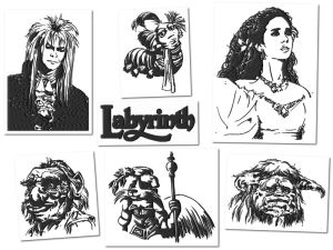 Labyrinth Embroidery Designs