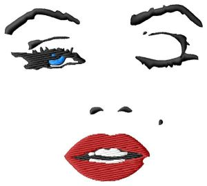 Marilyn Monroe Wink Embroidery Design
