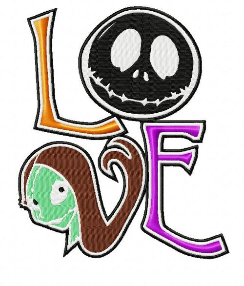 Nightmare Before Christmas Love Embroidery Design