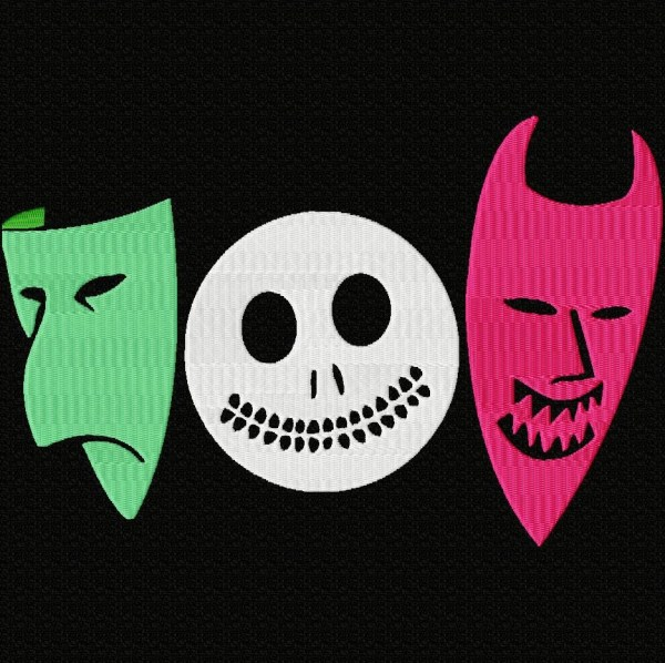 Nightmare Before Christmas Masks Embroidery Design