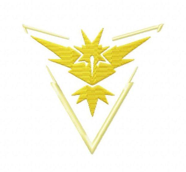 Pokemon Team Instinct Embroidery Designs