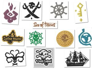 Sea Of Thieves Embroidery Designs