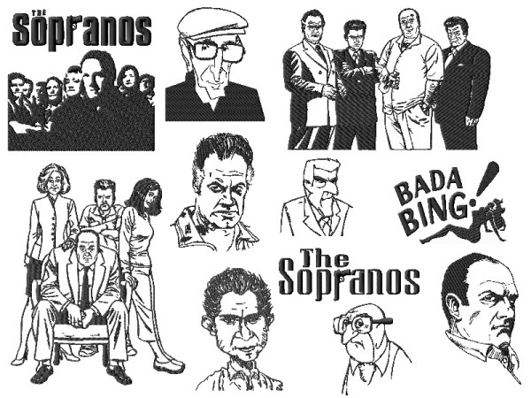 Sopranos Embroidery Designs Set