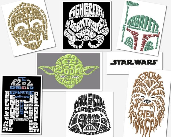 star-wars-text-art-embroidery-designs set (2 sizes)
