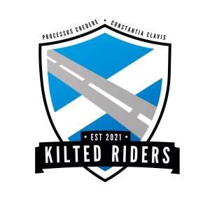 Kilted Riders - White Backed Logo