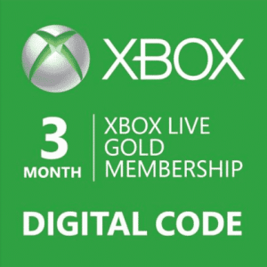 xbox live gold membership 3 months