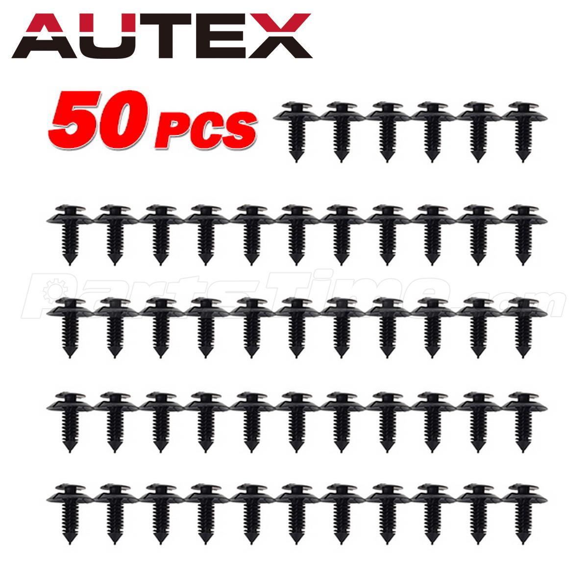 50x X Mas Tree Door Trim Panel Retainer Fastener Clip Fit