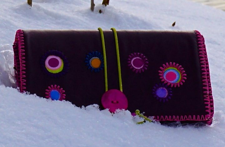 Funny dots Geldbeutel handmade