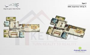 GLS Arawali Homes Sector 4 Gurgaon Floor plan