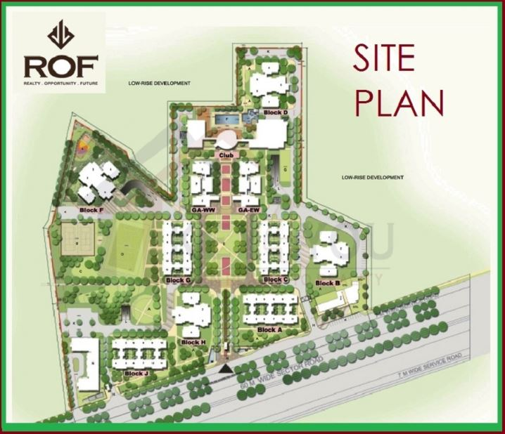 Site-plan-of-ROF-Sector-58 Gurgaon