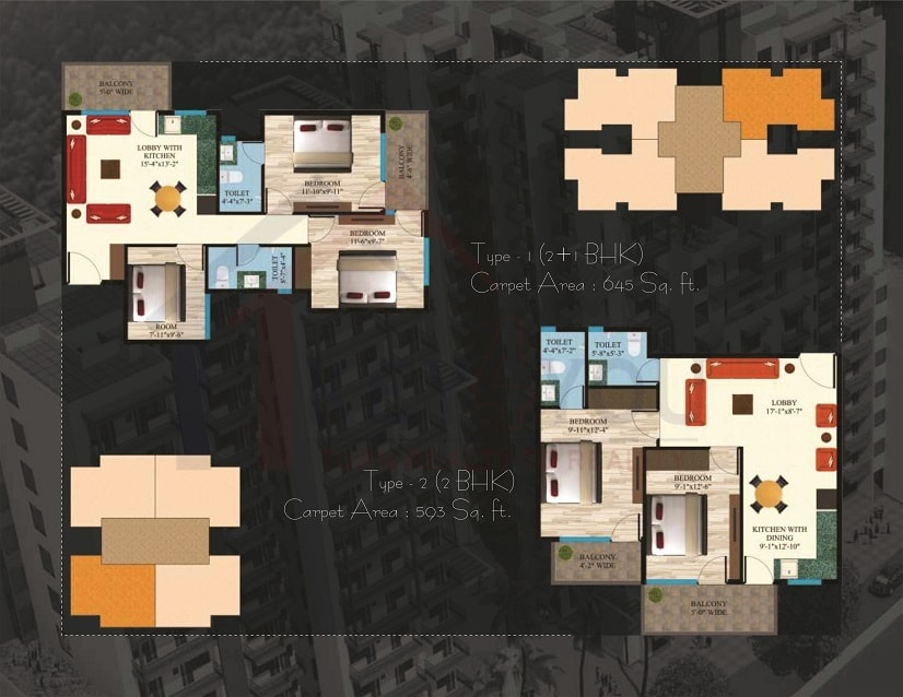 Maxworth Aashray Floor Plan