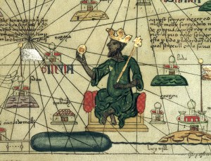 Mansa Musa depicted in the Catalan Atlas