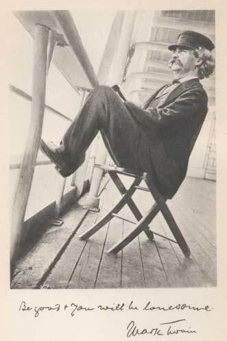 "Mark Twain from his book ""Following the Equator: A Journey Around the World"