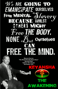 we are going to emancipate ourselves from mental slavery