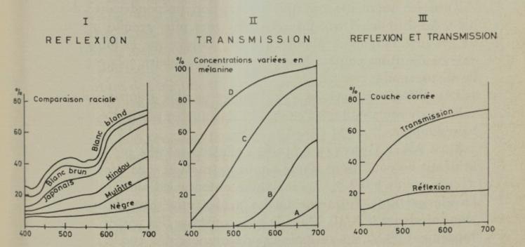 FIG. 2. Résultats de la mesure de la couleur de la peau par spectrophotométrie