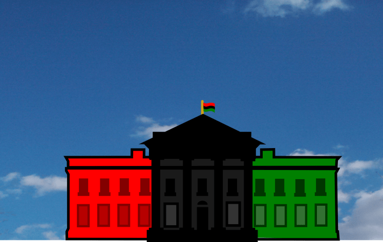 The Red, Black and Green house