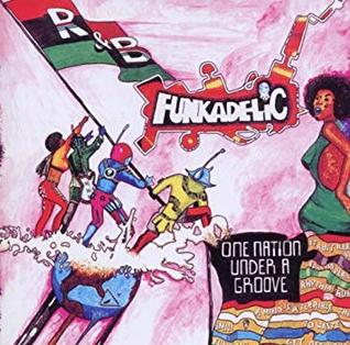 Illustrates use of Red, Black and Green flag on the album One Nation Under a Groove by Funkadelic
