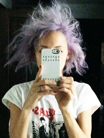 Omg Nicole Richie Has Crazy Purple Cotton Candy Hair In