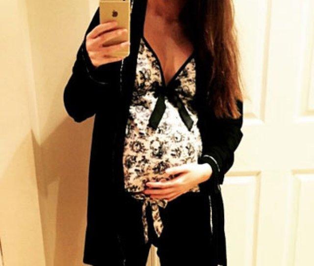 Pregnant Jacqueline Jossa Is Too Cosy Cradling Huge Baby Bump In Sexy Pyjamas