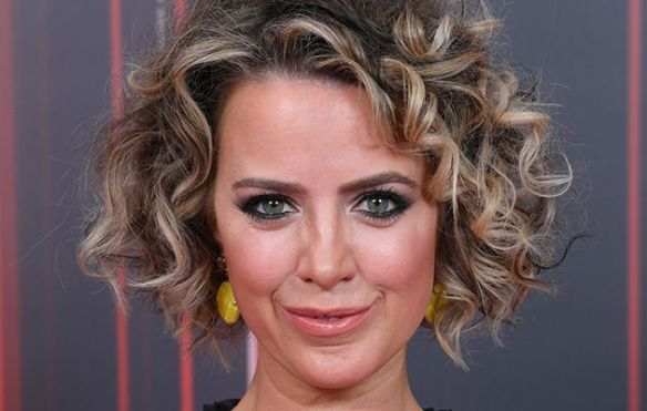 Sally Carman at an awards ceremony, looking differnent from her Coronation Street alter ego