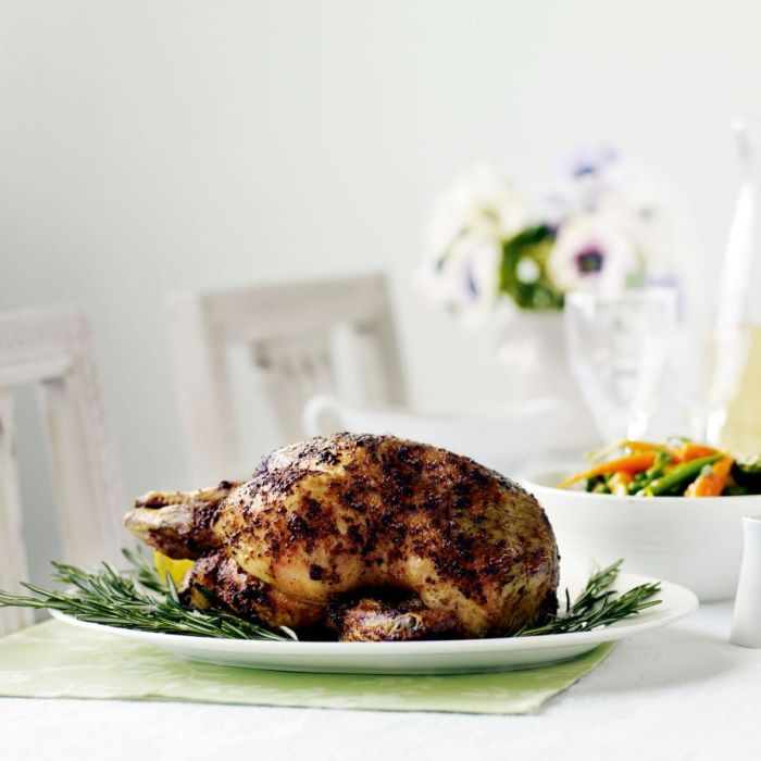 Roast Chicken with Rosemary and Anchovy Butter recipe-recipe ideas-new recipes-woman and home